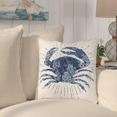 Brownville Crab Bursts Throw Pillow Size: 18 H x 18 W x 3 D