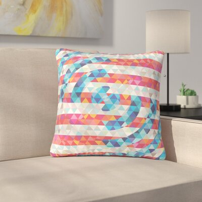 Fimbis Abstract America Digital Outdoor Throw Pillow Size: 16 H x 16 W x 5 D