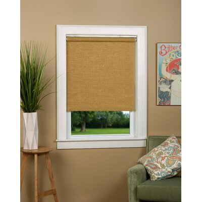 Almanzar Woven Cane Paper Roll-Up Shade Blind Color: Natural, Blind Size: 48W x 72L