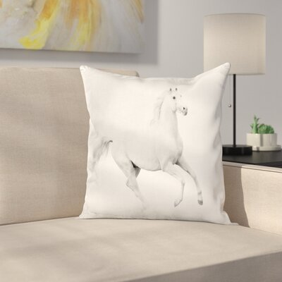 Stallion Square Pillow Cover Size: 24 x 24