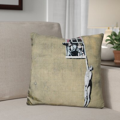 Berns Man Hanging Throw Pillow