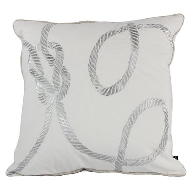 Canale Embroidery Indoor/Outdoor Throw Pillow Color: White