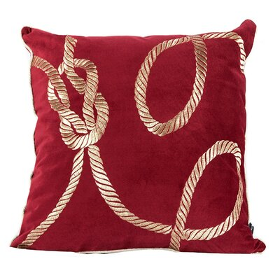Canale Embroidery Indoor/Outdoor Throw Pillow Color: Red