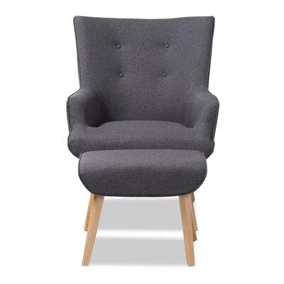 Crantor Lounge Chair and Ottoman Upholstery: Dark Gray