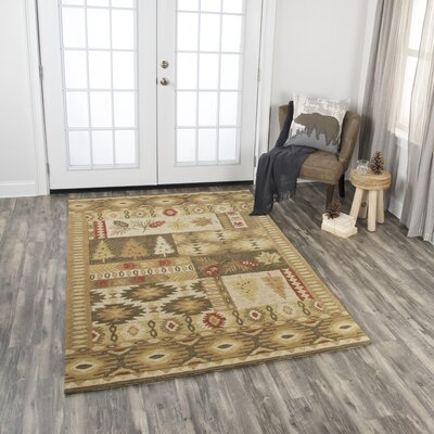 Pouliot Hand-Tufted Wool Brown Area Rug Rug Size: Rectangle 8 x 10