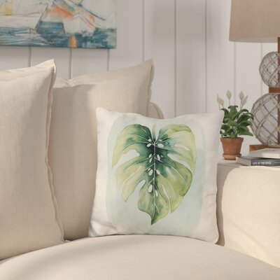 Swarthmore Palm Leaves Throw Pillow