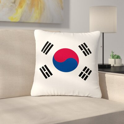 Bruce Stanfield Flag of Korea Digital Outdoor Throw Pillow Size: 18 H x 18 W x 5 D