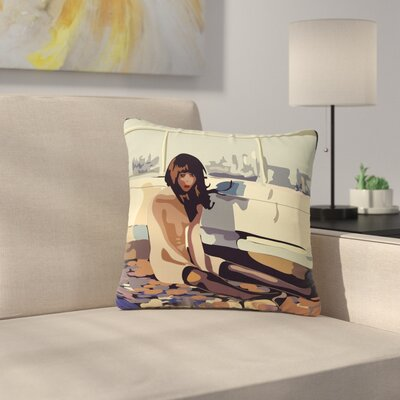 Maria Bazarova Loneliness People Outdoor Throw Pillow Size: 18 H x 18 W x 5 D