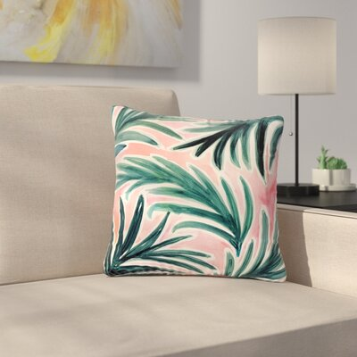 Crystal Walen Lush Palm Leaves Outdoor Throw Pillow Size: 16 H x 16 W x 5 D