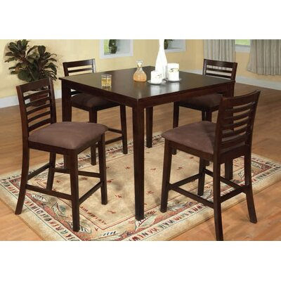 Elkins Park Counter Height 5 Piece Pub Table Set