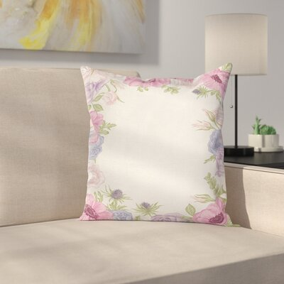 Anemone Summer Flora Square Cushion Pillow Cover Size: 18 x 18