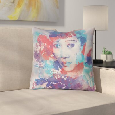 Watercolor Portrait Double Sided Print Throw Pillow Size: 16 x 16