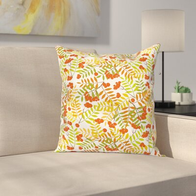 Rural Plants Wilderness Square Pillow Cover Size: 16