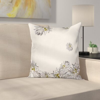 Flower Chamomiles Springtime Square Pillow Cover Size: 16 x 16