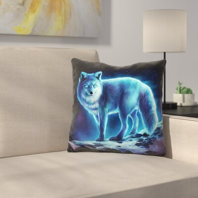 Ice Fox Throw Pillow