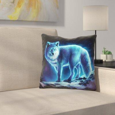 Ice Fox Throw Pillow