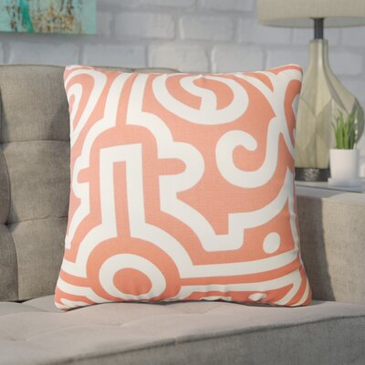 Wethington Geometric Down Filled 100% Cotton Throw Pillow Size: 24 x 24, Color: Watermelon