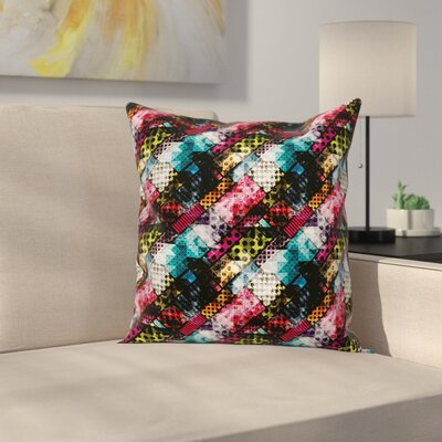 Abstract Grunge Modern Pattern Square Pillow Cover Size: 24 x 24