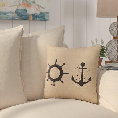 Caribe Throw Pillow Color: Natural