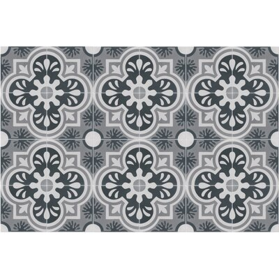 Carmen A Hermosa 8 x 8 Cement Field Tile in Green/Gray/Off-White