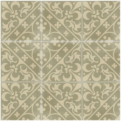 Canterbury Sandstone 8 x 8 Cement Field Tile in Cream