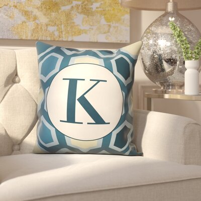 Hartig Hexagon Monogram Pillow Letter: K