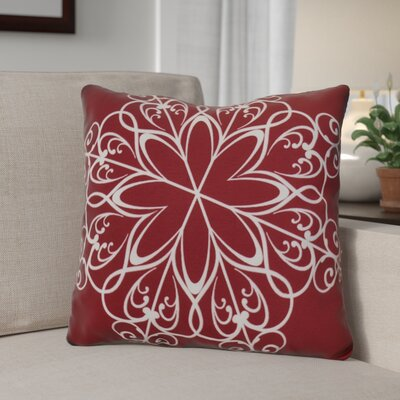 Decorative Holiday Print Throw Pillow Size: 16 H x 16 W, Color: Cranberry