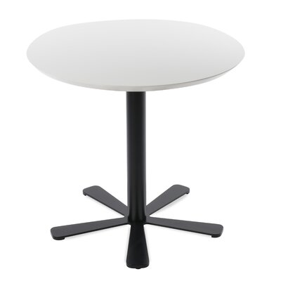 Daisy Dining Table Size: 29.5 H x 35.5 W x 35.5 D, Base Color: Black, Top Color: White Lacquer