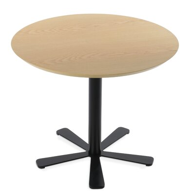Daisy Dining Table Size: 29.5 H x 35.5 W x 35.5 D, Base Color: Black, Top Color: Natural
