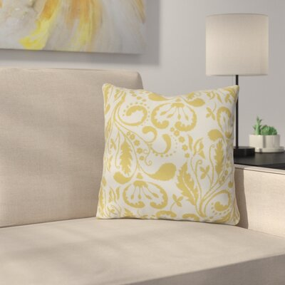 Harbin Outdoor Throw Pillow Size: 16 H x 16 W x 3 D, Color: Yellow