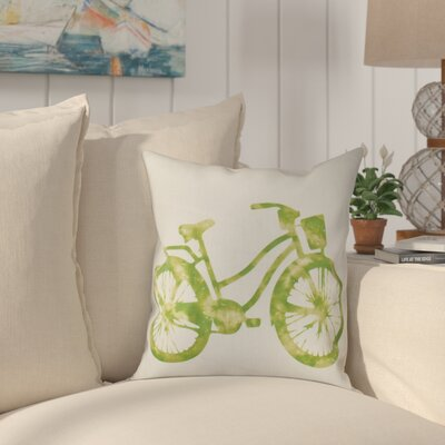 Golden Beach Life Cycle Outdoor Throw Pillow Size: 18 H x 18 W, Color: Light Green