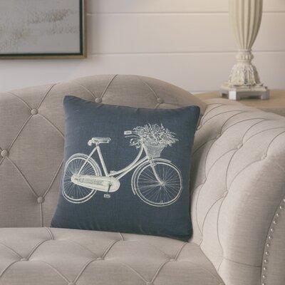 Superior 100% Cotton Throw Pillow Color: Blue