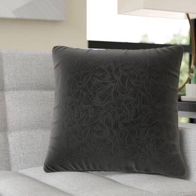 Aymond Square Throw Pillow Color: Balck