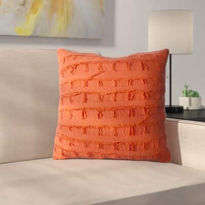 Rowena 100% Cotton Throw Pillow Color: Red Clay