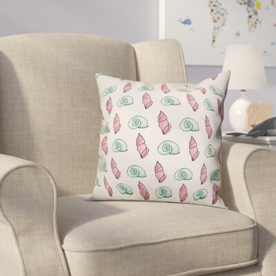 Star Green and Pink Shells Throw Pillow