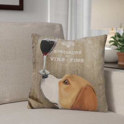 Gildea Dog Au Vin Beagle Throw Pillow