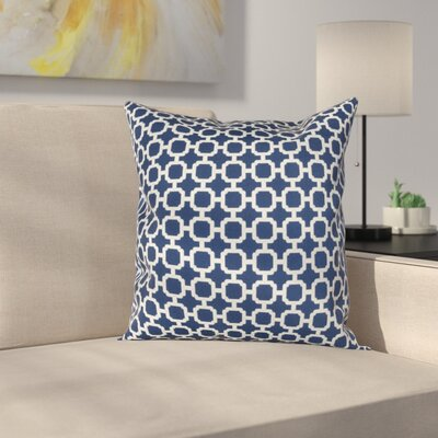 Burville Indoor/Outdoor Polyester Throw Pillow Color: Navy/White