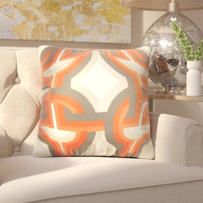 Westerlo Geometric Throw Pillow Cover Color: Orange
