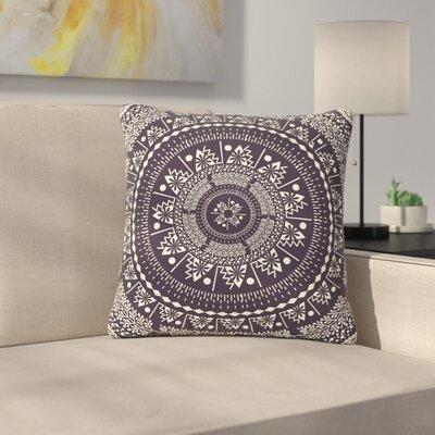 Famenxt Swadesi Boho Mandala Illustration Outdoor Throw Pillow Size: 18 H x 18 W x 5 D, Color: Black
