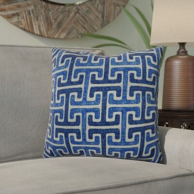 Mulvaney Cotton Throw Pillow Color: Denim