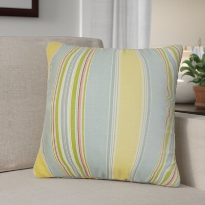 Ashprington Stripes Throw Pillow Cover Size: 18 x 18, Color: Springtime