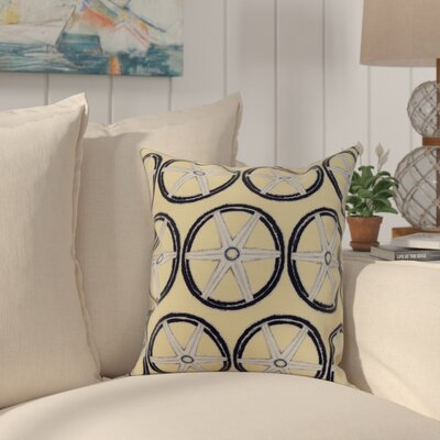 Crider Nautical Geo Lines Geometric Print Indoor/Outdoor Throw Pillow Color: Yellow, Size: 16 x 16