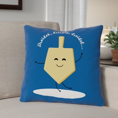 Dreidel Dreidel Dreidel Throw Pillow Size: 18 x 18