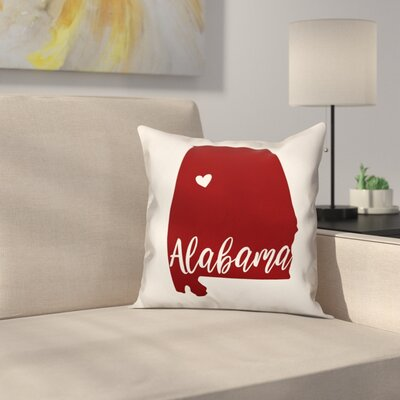 Alabama Go Team Square Throw Pillow