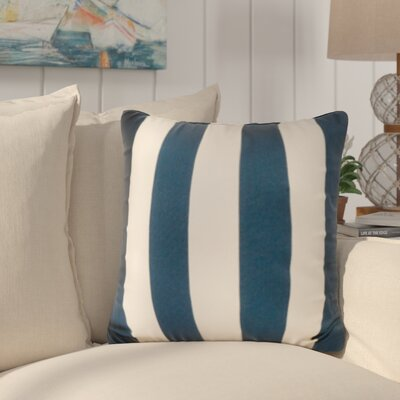 Merrill Outdoor Throw Pillow Color: Navy/Stark White