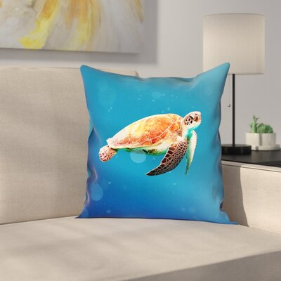 Sea Turtle Indoor Pillow Cover Size: 18 x 18