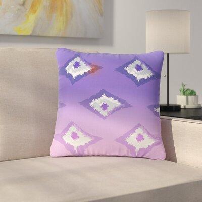 Alison Coxon Ikat Outdoor Throw Pillow Color: Denim, Size: 18 H x 18 W x 5 D