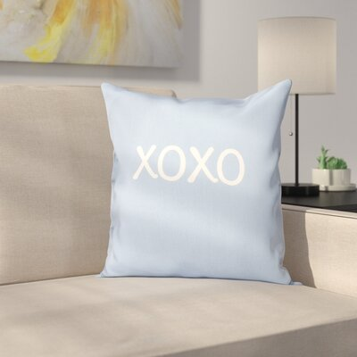 Forest River XOXO Throw Pillow Size: 16 H x 16 W, Color: Blue