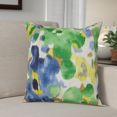 Heintz 100% Cotton Throw Pillow Color: Ultramarine, Size: 20 H x 20 W