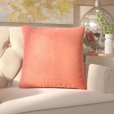 Chevaliers Solid Throw Pillow Color: Melon